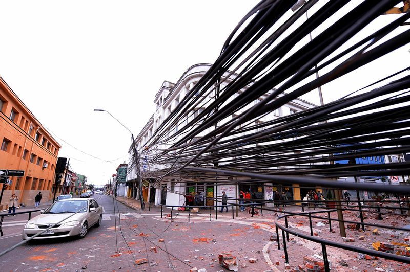 3 days after earthquake in Chile, South America