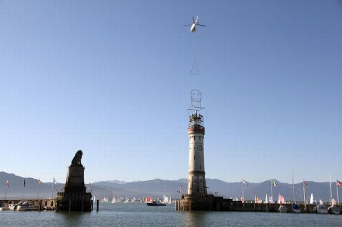 Smiling lighthouse, Lindau, Germany