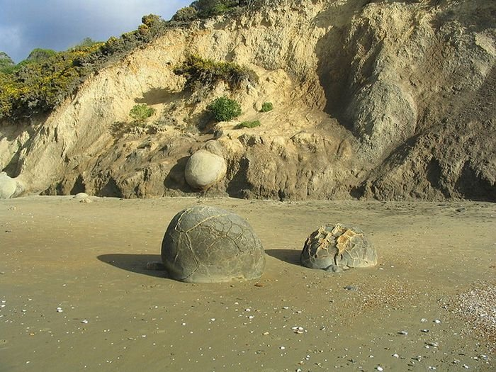 Moeraki Boulders, Koekohe Beach, Otago coast, New Zealand