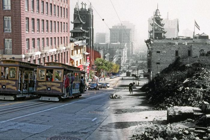 1906 and Today, The Earthquake Blend by Shawn Clover