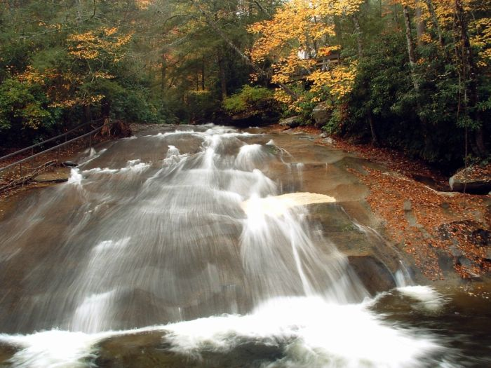 Sliding Rock, Looking Glass Creek, Pisgah National Forest, Brevard, North Carolina, United States