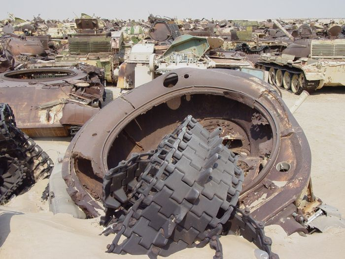 Highway of Death tank graveyard, Highway 80, Kuwait City, Kuwait