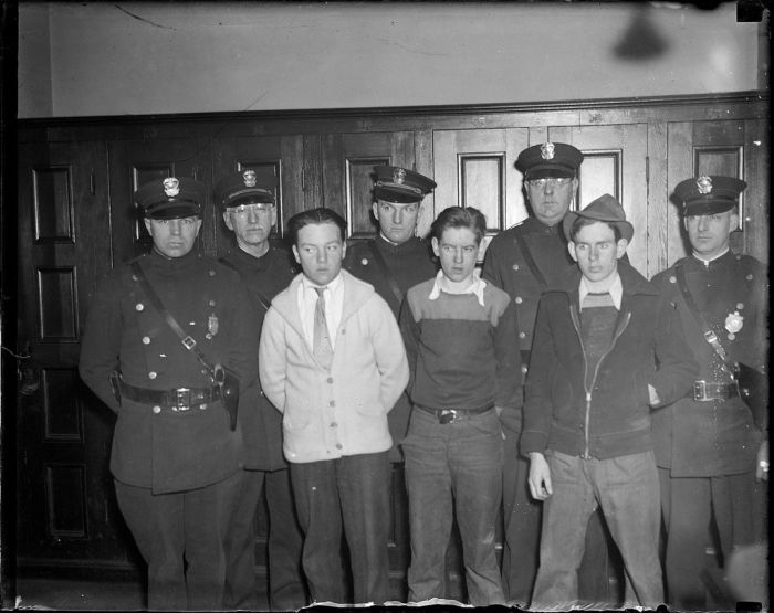 History: Boston Police, Behind the Badge, 1930s, Boston, Massachusetts, United States