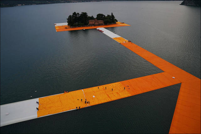 Floating piers, Lake Iseo, Lombardy, Italy