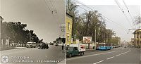 World & Travel: History: then and now, Moscow, Russia