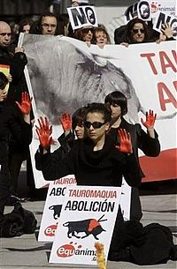 Trek.Today search results: Protest against bull fighting, Madrid, Spain
