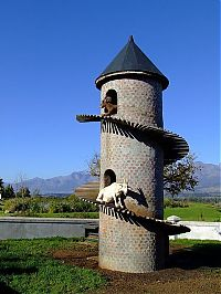The Goat Tower, Fairview Wine and Cheese farm, Paarl winelands of South Africa