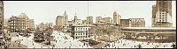 History: Panoramic black and white photos of New York City, 1902-1913, United States