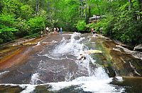 Trek.Today search results: Sliding Rock, Looking Glass Creek, Pisgah National Forest, Brevard, North Carolina, United States