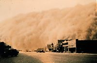 History: Dust Bowl, Dirty Thirties, 1930s, Great Plains, American and Canadian prairies