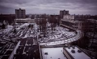 Chernobyl in winter, Pripyat, Kiev Oblast, Ukraine