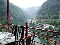 Fanven restaurant, Happy valley, Xiling Gorge, Yangtze River, Hubei province, China