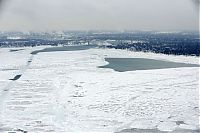 Trek.Today search results: The Great Lakes frozen, Canada–United States border, North America