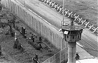 History: 1961 Construction of Berlin Wall barrier, Berlin, Germany