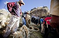 Trek.Today search results: Cusco Inca rope bridge, Apurimac Canyon, Cuzco Province, Peru