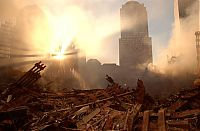 History: Collapse of the World Trade Center, September 11, 2001, Lower Manhattan, New York City, United States