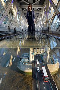 Trek.Today search results: Tower Bridge walkway, London, England, United Kingdom