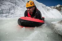 Trek.Today search results: Riverboarding of Great Aletsch Glacier, Bernese Alps, Valais, Switzerland