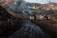 Coal field fire, Jharia, Dhanbad, Jharkhand, India