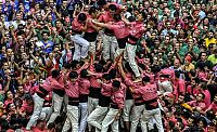 Castell, human tower, Catalonia, Spain