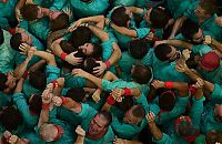 World & Travel: Castell, human tower, Catalonia, Spain