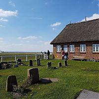The Halligen islands, North Frisian Islands, Nordfriesland, Germany